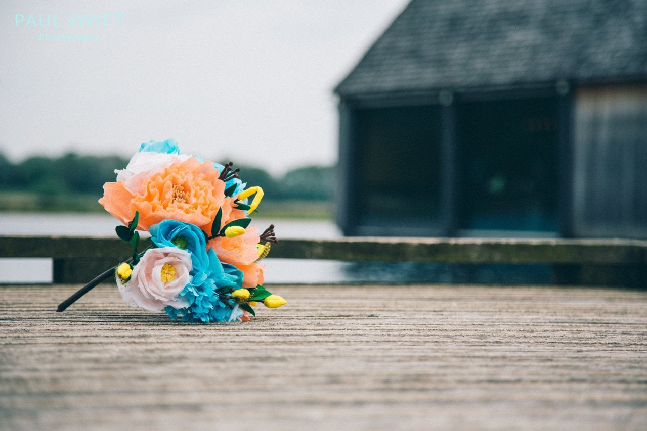 Paperflowers on one of the jetty's at Brockholes