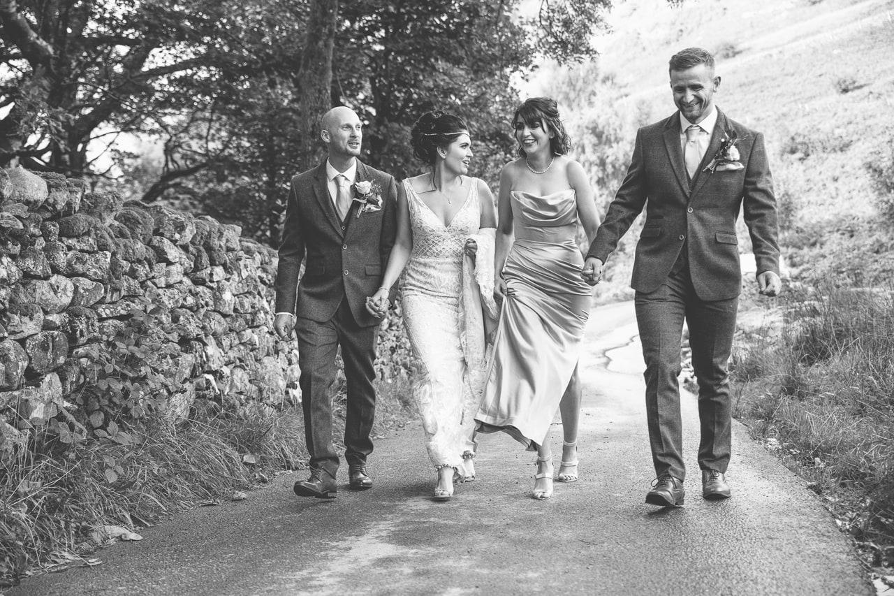 Bridal Party at Lodore Falls
