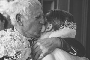 Bride with grandfather