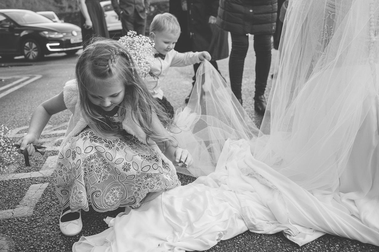 Children playing at weddings