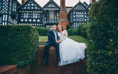 A pretty wedding at Bramall Hall