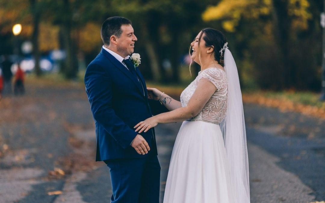 Danni and David's fun filled 'Covid kicking' wedding in Sefton Park