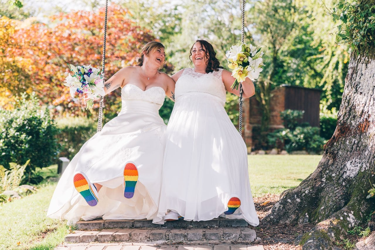 Two brides at Broadoaks Country House