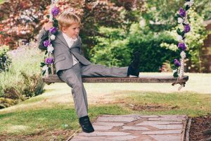 A youngster enjoying the swing at Broadoaks Country House