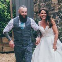 Bride and Groom having fun
