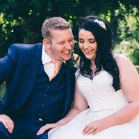 Fun bride and groom - Mitton Hall Wedding Photography