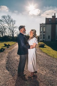 Happy couple at Mere Brook House