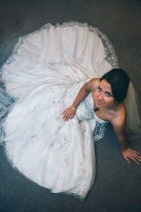Mitton Hall Wedding Photography - bride posing