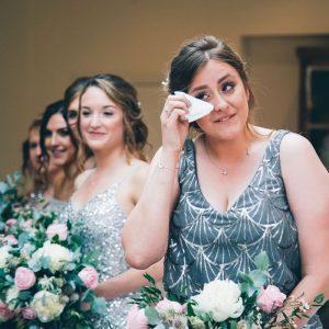 Emotional Bridesmaid at Mitton Hall