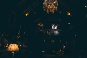 Bride and Groom in the Hall at Mitton Hall