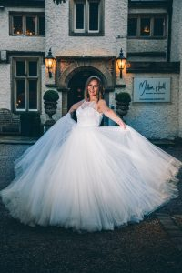 Fun bride at Mitton Hall