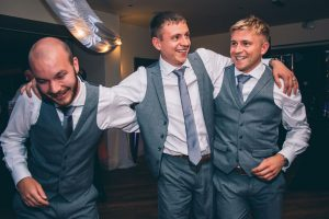 The groomsmen at Mitton Hall