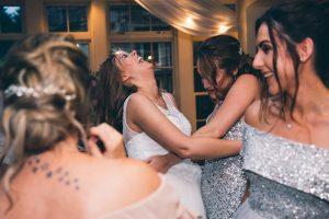 The bridesmaids at Mitton Hall