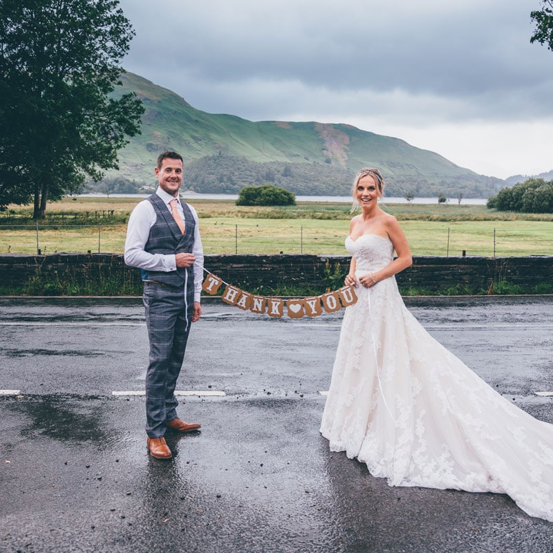 Bride and Groom at Lodore Falls