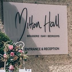 Mitton Hall Sign