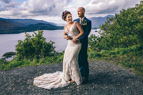 Bride and Groom at Surprise View