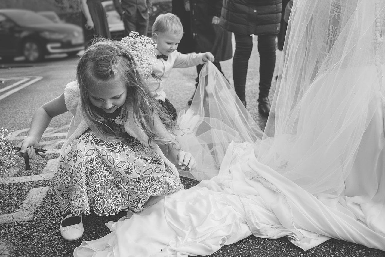Kids having fun at a Liverpool Wedding