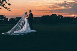 Bride and Groom enjoying the sunset