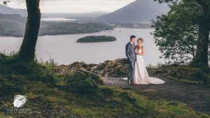 Bride and Groom in the Lake District