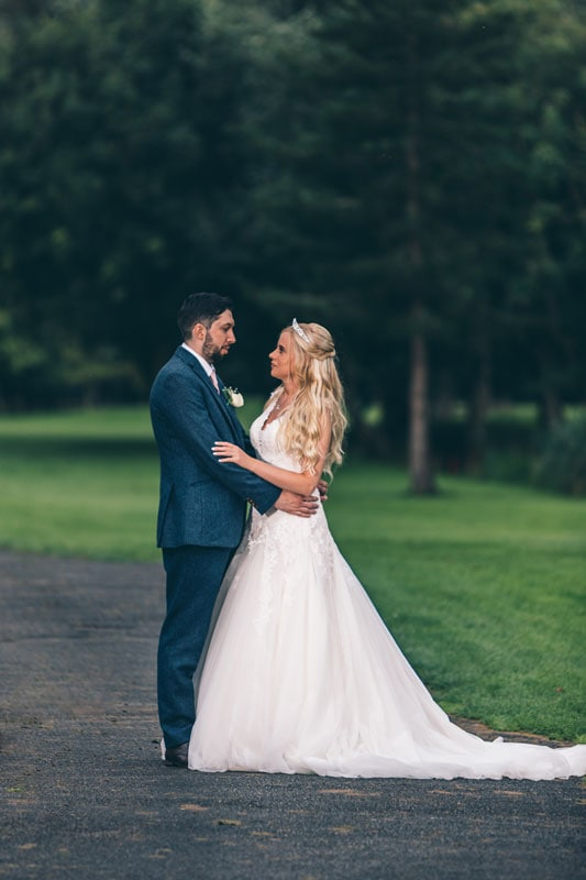 Bride and Groom at Formby Hall