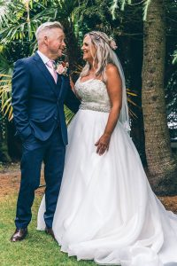 Bride and Groom at Rosehill House Hotel