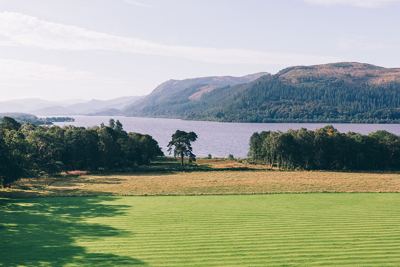 The amazing view of Bassenthwaite from the top of Armathwaite Hall