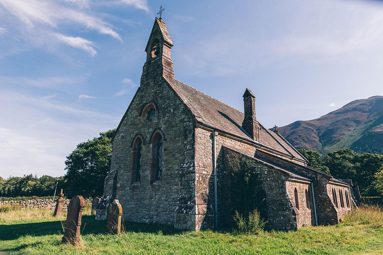 St Begas Church on the banks of Bassenthwaite