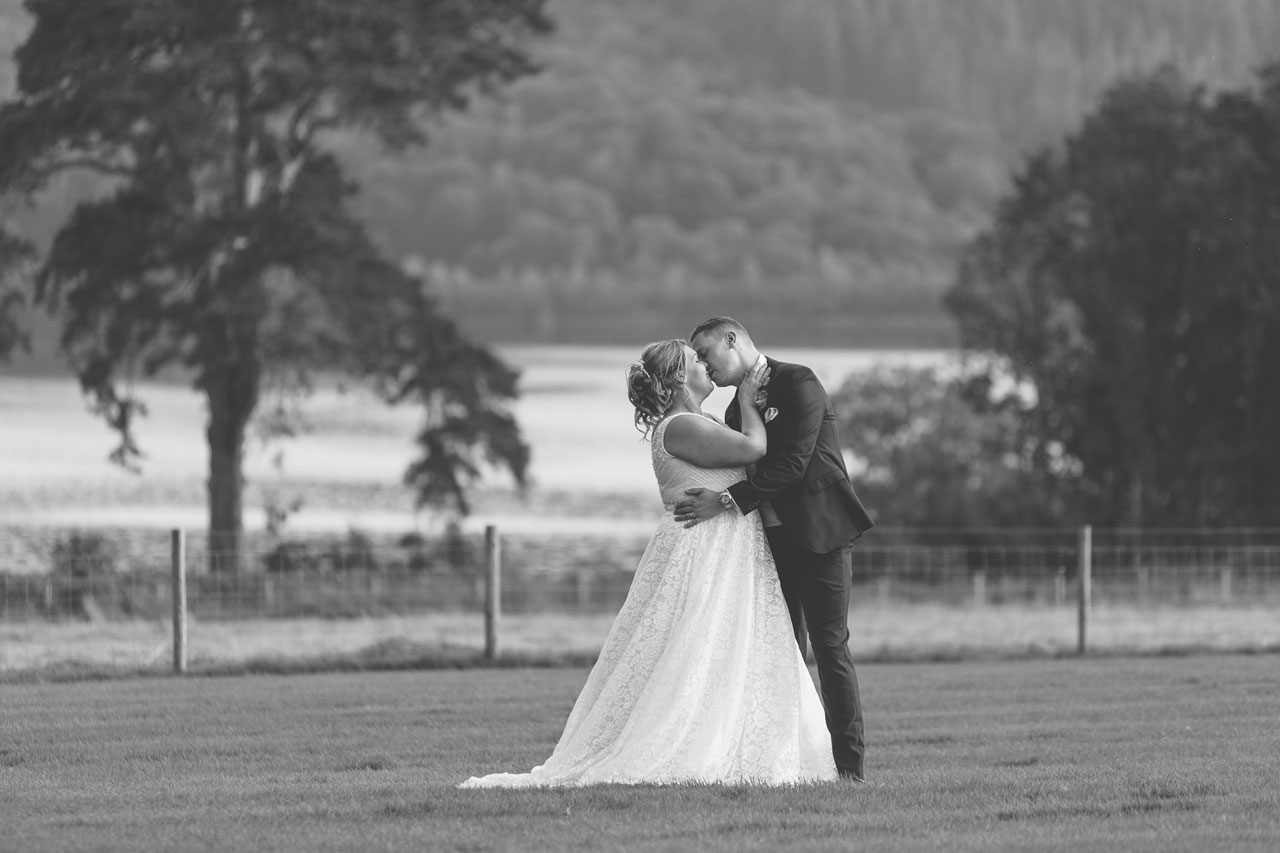 Intimate moment on the lawn - best Wedding Venues in the Lake District