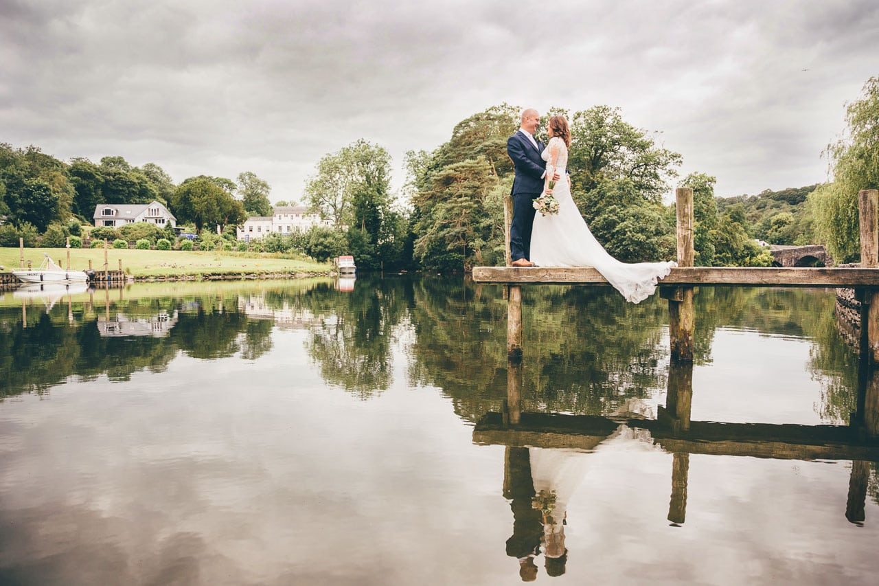 The river Leven at The Swan Hotel - - Wedding Venues in the Lake District