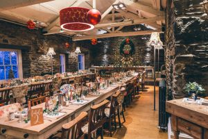 The rustic barn at The Swan Hotel