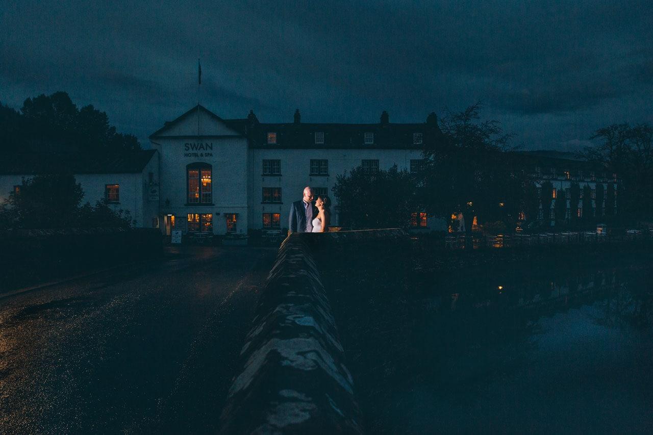 Bride & Groom at the Swan Hotel